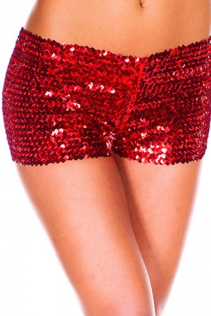 Shiny Red Sequin Women Panty