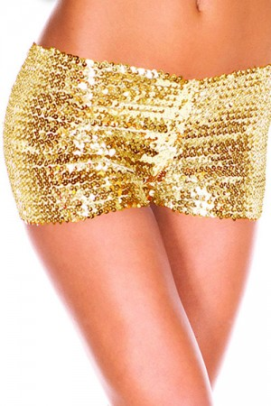 Golden Sequins G-String Panty For Woman