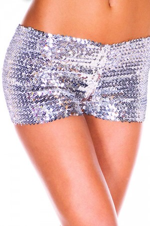 Dazzling Silver Sequins Panty