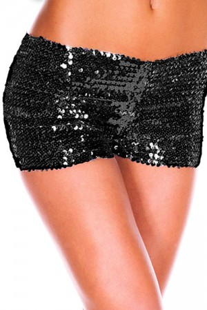 Black Shiny Sequins Panty