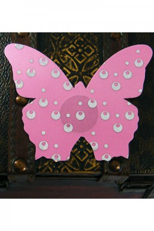 Sexy Pink Butterfly Nipple Cover