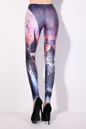 Sunset Scenery Colorful Leggings