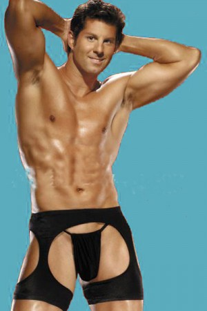 Man Black Boxer Brief