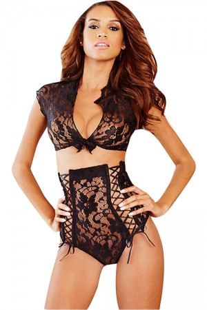 Sexy See Through Mini Babydoll Nightwear Lingerie Set