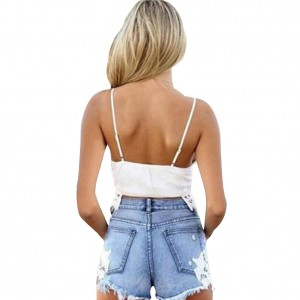 Fashion Women Lace Jeans Shorts