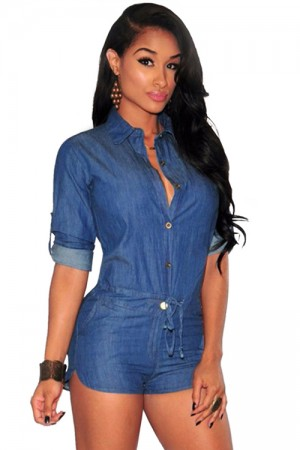 Denim Shorts Jeans Jumpsuit Women