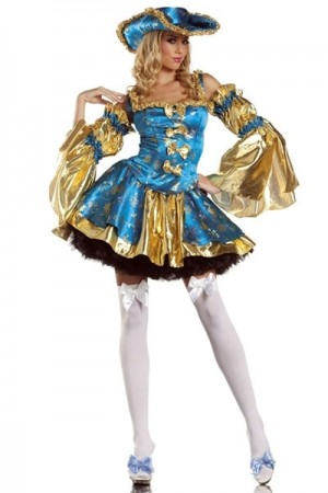 Sheer Marauder Realistic Pirate Costume Petticoat Skirt