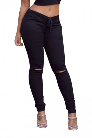 Fashion Black Casual Legging For Women