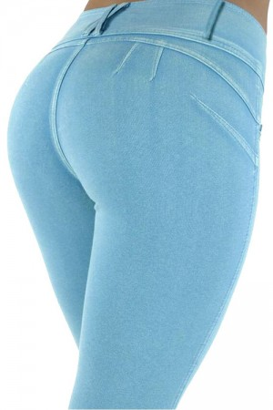 Magic Boost Slimmer Blue Shaping Brazilian Stretch Jeans