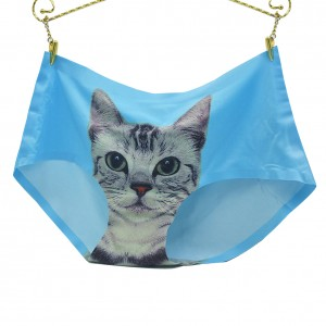 Little Thrills Cat Themed Blue Comfortable Panties