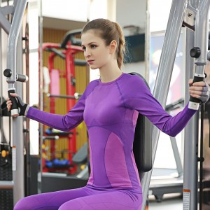 Functional Stretch Purple Gym T Shirts Tights Sportswear