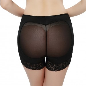 Lacey Accent Black Mesh Back Bottom Lifting Knickers
