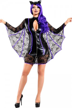 Moonlight Bat Lace Sleeves Halloween Costume Ideas
