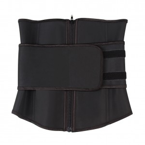 Abdominal Belt High Compression Zipper Plus Size Latex Waist Cincher