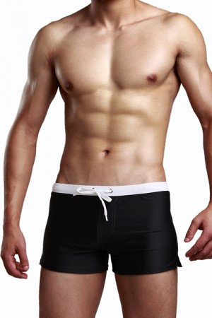 Specially Drawstring Design Black Cute Mens Underwear