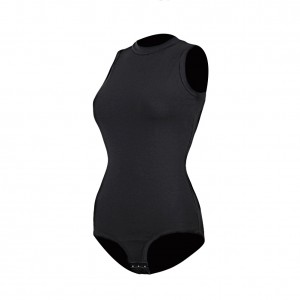 Body Hugging Hooks Black One Piece Sleeveless Bodysuit