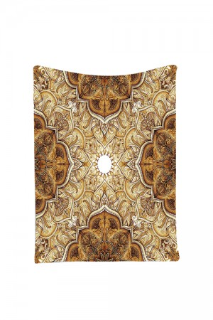 Classic Islamic Architecture Leaf Pattern Indian Tapestry