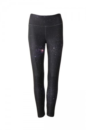 Futuristic Starry Sky Patterns Polyester And Spandex Pants