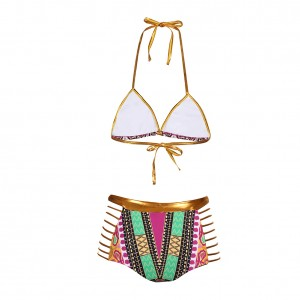 South Africa Two Piece Exotic Swimwear Wireless High Rise