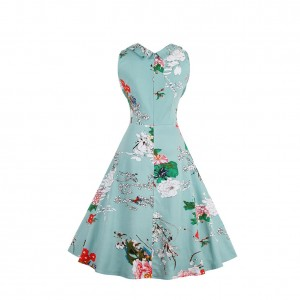 1950s Style Plus Audrey Hepburn Floral Dress Sweetheart