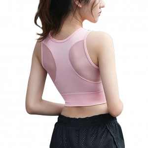 Cosy Pink Padded Wireless Sports Bra Elastic Hem
