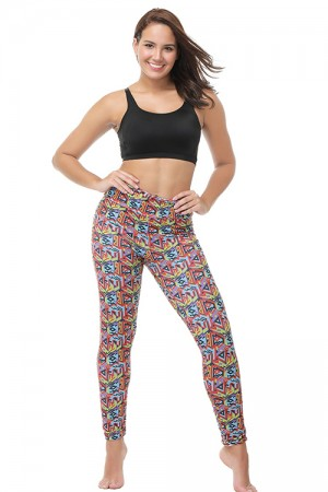 Splendid Printed Ankle Length Polyster Spandex Pants