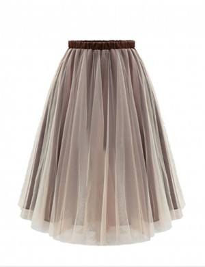 Brightly Layered Tutu Skirts Midi Length For Vacation