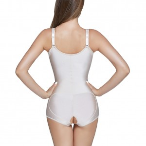 Tummy Control Zipper Front Plus Size Latex Shapewear