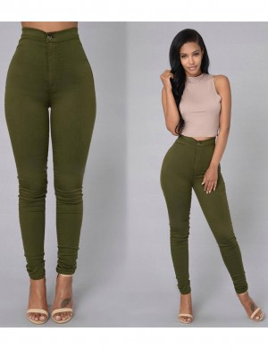 Sophisticated High Rise Pencil Pants Zip Stretchy