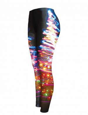 Glaring Printed Colorful Leggings Low Rise For Women