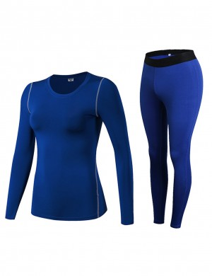 Vogue Blue Quick Dry Running Shirts Full Sleeves Simplicity