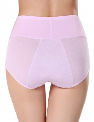 Breath Light Pink Bamboo Fiber Period Panty Three Layers Heartbreaker