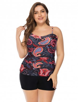 Energetic Pads Printed Tankini Queen Size Wireless Womens Fashion Online Shopping