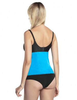 Invisible Blue Neoprene Queen Size Waist Shaper Double Strengthen Flatten Tummy