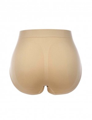 Desirable Designed Nude Cotton Plain Butt Lifter Panty Mid Waist High Quality