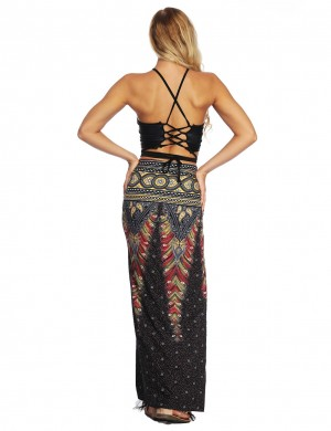 Big Bust Sun-Protective Waist Tie Beach Long Skirt Womens Fashion