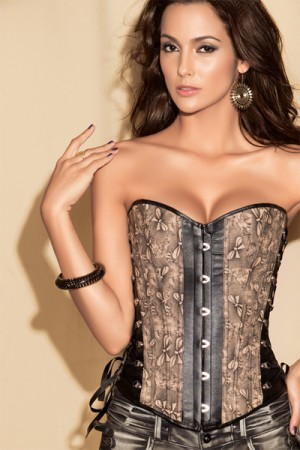 Sexy Brown Overbust Corset