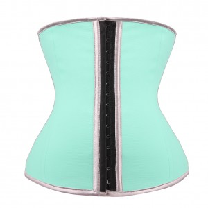 Haute Contour Light Blue 9 Bones Latex Workout Waist Shaper