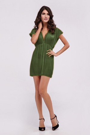 Dark Green Classic Beach Cover-up