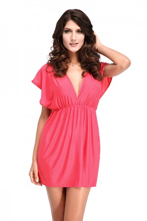 Pink Classic Beach Cover-up