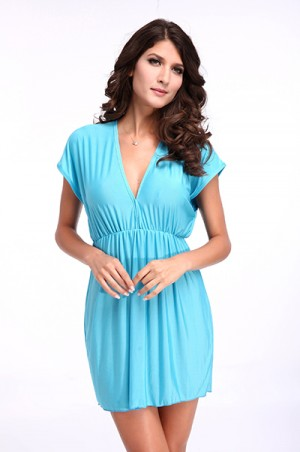Blue Classic Beach Cover-up