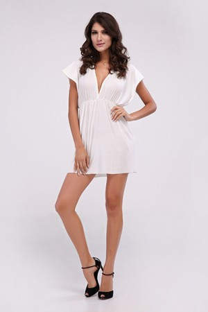 White Classic Beach Cover-up