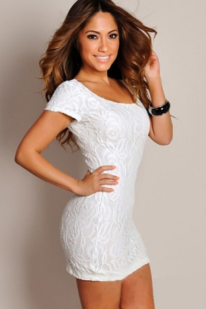 White Elegant Club Dress