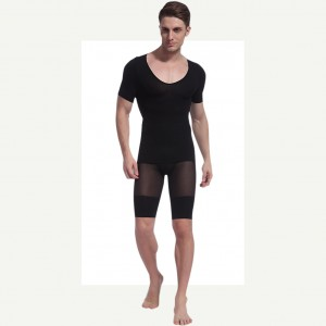 Irresistible Cool Definition Black Short Sleeves Mens Body Shapers