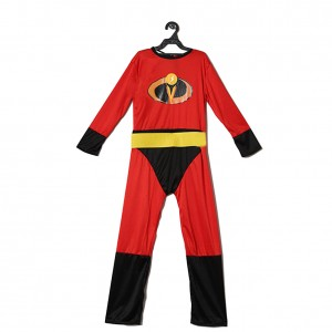 Superhero Dash Muscle Child Costume Red Jumpsuit