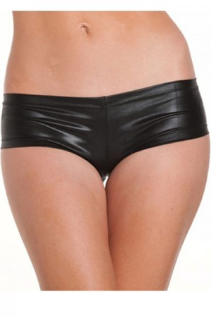 Black Leather Panty For Woman