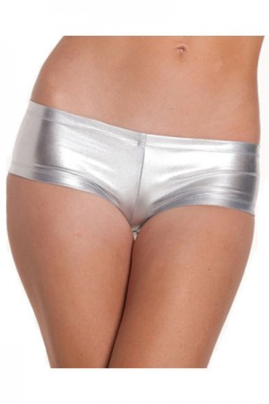 Silver G-String Panty For Woman