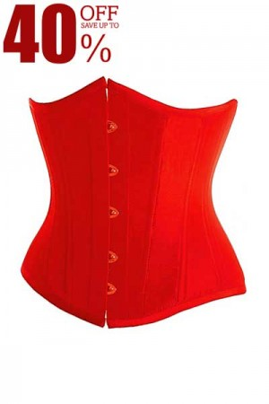 Charming Red Women Underbust Corset