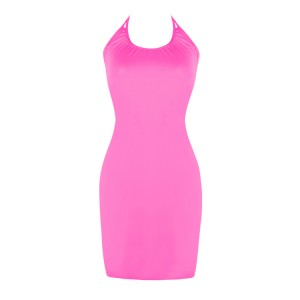 Fabulous Pure Pink Sundresses For The Beach Halter Neckline