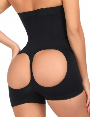 Ladies Sexy Underwear Black Steel Boned Butt Lift